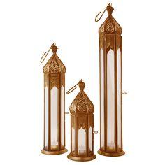 Garden Lantern Co. Lantern Collection Copper - Set of 3 | ACHICA