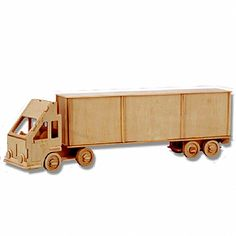 3-D Wooden Puzzle - Container Freight Liner -Affordable Gift for your Little One! Item #DCHI-WPZ-P097