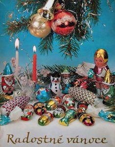 Old Christmas, Retro Christmas, All Things Christmas, Christmas Bulbs, Vintage Postcards, Twinkle Twinkle, Childhood Memories, Elephant, Holiday Decor