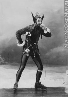 Mr. Newby in skating party costume, Montreal, QC, 1881