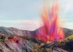 what happens when you put 8 million flower petals into a volcano