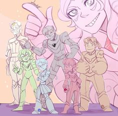 Crystal gem voltron team