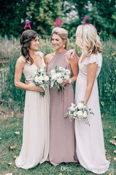 New Style Cheap Long Chiffon Country Bridesmaid Dresses 2017 Wedding Guest Dress V Neck A Line Floor Length Maid Of Honor Gowns Gray Bridesmaid Dresses Pastel Bridesmaid Dresses From Snowqueen98, $87.85| Dhgate.Com