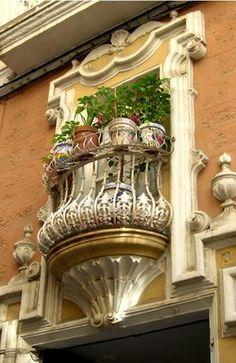 Balcony in Cádiz, spain