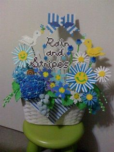 Flowers perler beads project by Yumi O. - Perler® | Gallery