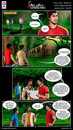 Sivappu Kal Mookuthi (a.a Girl with a Red Nose Ring): Page 31 & 32 Comics Pdf, Download Comics, Free Comics, Comic Book In Hindi, Online Comic Books, Comics Online, Horror Books, Horror Comics, Tamil Comics