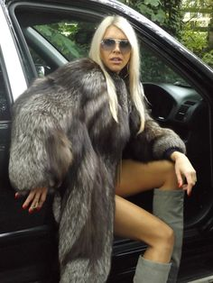 Arctic Silver FOX FUR Swing Coat Jacket TOP Class FUR XL XXXL RRP 7900 EUR | eBay