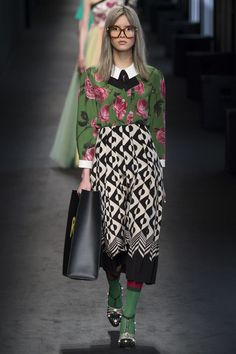 Runway Report: Gucci Fall 2016 Beautiful combination of colours and patterns