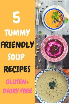 Looking for easy to digest soup recipes? These gluten free and dairy free soup recipes are perfect for winter, and includes gut friendly rest and repair soup, beetroot immune soup, simple squash soup and low fodmap chicken soup. These are the perfect IBS Dairy Free Soup, Dairy Free Recipes, Paleo Recipes, Soup Recipes, Whole Food Recipes, Recipes Dinner, Cookie Recipes, Recipies, Healthy Appetizers