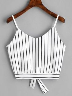 Product Bowknot Stripes Cut Out Cropped Tank Top available for Zaful WW, get it now ! Cute Tank Tops, Black Tank Tops, Cropped Tank Top, Crop Tank, Trendy Fashion, Fashion Outfits, Style Fashion, Emo Fashion, White Denim Skirt
