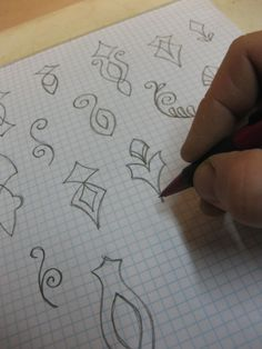 Designs for polymer clay stamps to make.  Great idea to draw them out on paper, graph paper especially.