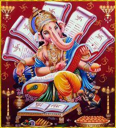 59 Ideas Tattoo Elephant Indian Awesome For 2019 Arte Ganesha, Arte Shiva, Shiva Art, Hindu Art, Ganesh Pic, Shri Ganesh Images, Ganesha Pictures, Jai Ganesh, Shri Ram Wallpaper