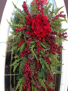 Christmas Wreath Winter Wreath Holiday por AnExtraordinaryGift