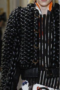 balenciaga fall 2011, knit leather