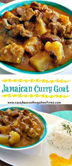 Mi luv curry, Jamaican curry goat was the first curry i ever attempted to make some years back. I will never forget my first bite of Jamaican food, it was at a local dinner in Ocho Rio, Jamaica the restaurant was situated in an tropical outdoor environmen Jamaican Curry Goat, Jamaican Cuisine, Jamaican Dishes, Jamaican Recipes, Jamaican Rice, Jamaican Curry Chicken, Chicken Curry, Goat Recipes, Indian Food Recipes