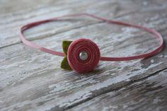 Baby Felt Flower Headband  Tiny Spiral by SnuggleBugsBowtique, $5.00
