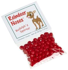 We wanted the perfect gift for you, But couldn't decide just what to do! We almost gave you a dozen roses, but instead here's a bag of reindeer noses!