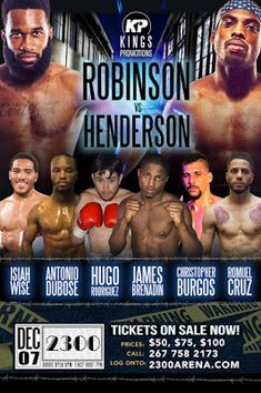 The Weigh-In: Kings Promotions Presents Robinson vs. Henderson P. Boxing History, Professional Wrestling, Hot Sauce, Promotion, Presents, King, Gifts, Favors, Hot Salsa