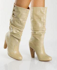 Qupid Tabu 13 Beige Herringbone Cuff High Heel Boots - lulus.com    gotta love a beige boot