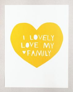 Lovely, Love My Family Giclée print. (Based on the Yo Gabba Gabba song, Lovely, Love My Family, written by Amos Watene, performed by the Roots.)