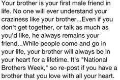 My brother was my first friend, so many memories with him that I cherish, but so many more are made as adults and getting to enjoy watching his little boys grow! Love you Russ my brother bear