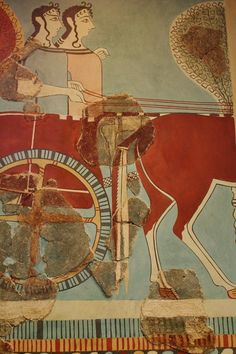 The Mycenaean ruling class used the chariot both for the battle and hunts. National Archaeological Museum, Athens, 2009