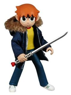 I definitely picture our cake toppers as more cartoony and stylized...like Trevor's Scott Pilgrim figure
