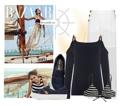 """""""Beyond The Sea"""" by cranetattoo ❤ liked on Polyvore featuring Chloé, Michael Kors, Opening Ceremony, J.Crew and Nautical"""