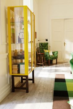 2013 IKEA STOCKHOLM Collection yellow glass cabinet