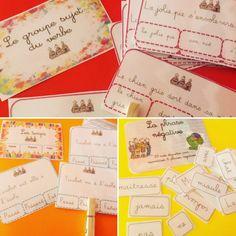 Cartes à Pinces : Grammaire | Bout de Gomme