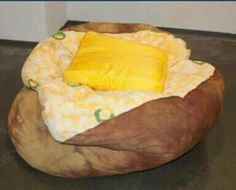 baked potato bean bag with a pillow of butter-must have