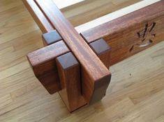 Asian Inspired Platform Bed frame for dog bed Furniture Projects, Wood Furniture, Wood Projects, Woodworking Bed, Woodworking Projects, Youtube Woodworking, Bed Design, Home Design, Japanese Bed Frame