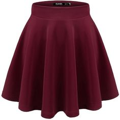Thanth Womens Versatile Stretchy Pleated Flare Skater Skirt ($9.97) ❤ liked on Polyvore featuring skirts, stretch skirts, flared hem skirt, purple skater skirt, pleated skater skirt and stretchy skirt