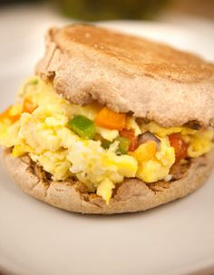 Better For You English Muffin Egg Sandwich — makes for a tasty breakfast sammy with Thomas' 100% Whole Wheat English Muffins.