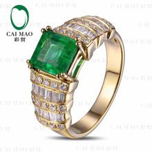 CaiMao 1.6 ct Natural Emerald 18KT/750  Yellow Gold  0.7 ct Full Cut Diamond Engagement Ring Jewelry Gemstone colombian     Tag a friend who would love this!     FREE Shipping Worldwide     Buy one here---> http://onlineshopping.fashiongarments.biz/products/caimao-1-6-ct-natural-emerald-18kt750-yellow-gold-0-7-ct-full-cut-diamond-engagement-ring-jewelry-gemstone-colombian/