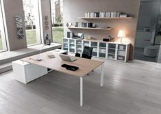 contemporary executive wooden office desk with metal structure Martex Executive Office Desk, Executive Room, Office Furniture, Furniture Design, Office Plan, Contemporary Desk, Office Space Design, Office Table, Office Interiors