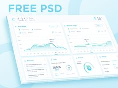 it's been a while since the last freebie that I uploaded, now I'm back with another freebie. Still dashboard design, but with different touch. Just trying to do some experiment with soft colors. Fu...