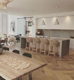 Flooring Sale, Timber Flooring, Flooring Ideas, Grey Floorboards, Herringbone Wooden Floors, Light Wooden Floor, Interior Styling, Interior Design, Contemporary Style Homes