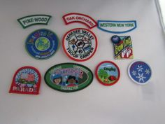 Girl-Scout-Patches-lot-of-10-Pine-Wood-Oak-orchard-Western-New-York-and-more