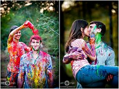 perfect engagement photos, but I am planning on having an all out paint war between both weeding parties (the bride's ladies and the groom's men)! But if I don't do that then this is a must! :)