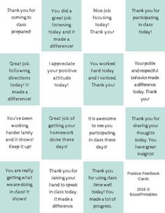 Students love it when you notice what they are doing well. It is especially important to notice the positive behaviors of students who have been struggling in your class in various ways.  It can be too easy to give up on the student that never has his/her homework or rarely seems to be focused in class.