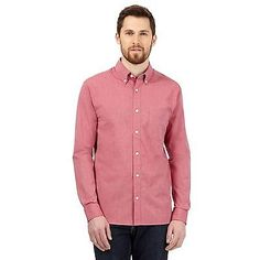 Maine new #england mens big and tall red #button down collar shirt from #debenham,  View more on the LINK: 	http://www.zeppy.io/product/gb/2/262330417346/