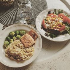 """Oh yes it's all mine ✌️ Two plates for dinner since they are too small, or is it too much food? Don't know, but I will enjoy it anyway!  Salmon, bean pasta, vegetables. #eatclean#dinnner#food#thewayback#nutritionbysarah#dietmaster#nomnom#healthy#lifestyle#postworkout#workforit"" Photo taken by @sarahjelving on Instagram, pinned via the InstaPin iOS App! http://www.instapinapp.com (08/05/2015)"