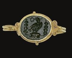 A ROMAN GOLD AND BLOODSTONE FINGER RING CIRCA 2ND-3RD CENTURY A.D.
