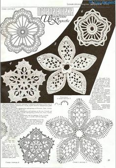 irish crochet motif ...click on pics to turn the page.  Lots of diagrams here to assemble motifs into apparel
