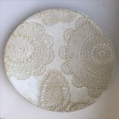 L2A pottery doily imprinted plate