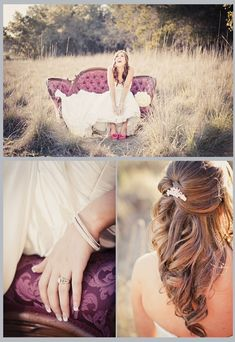 Bridal shoot ideas and love the hair