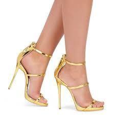 Armonía metálico Strappy sandalias oro plata plataforma gladiador sandalias mujer tacones zapatos de verano 2016
