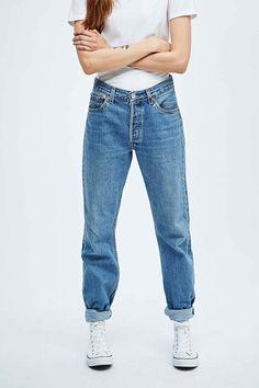"Urban Renewal Vintage Customised – Levi's-Jeans ""501"" in mittlerer Waschung"