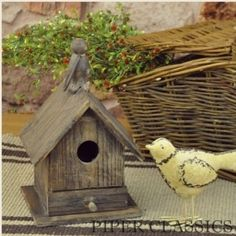 Rustic Birdhouse with Drawer